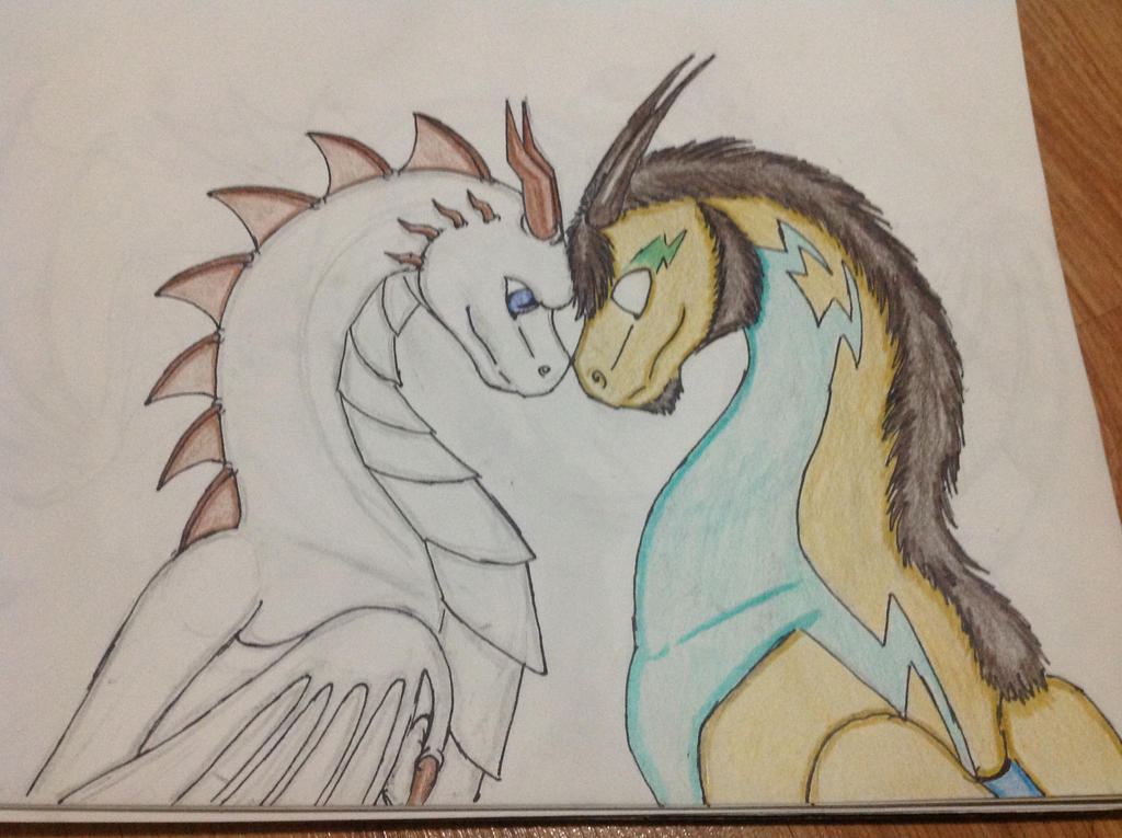 Herobrine and Silverwind by RainbowGuppy1