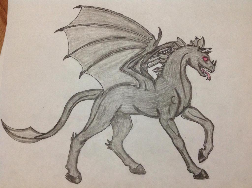 Nightmare the Demonic Horse by RainbowGuppy1