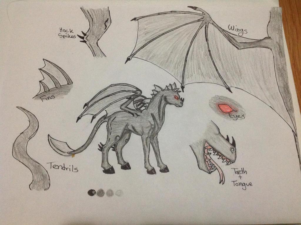 Nightmare the Demonic Horse Ref. Sheet by RainbowGuppy1