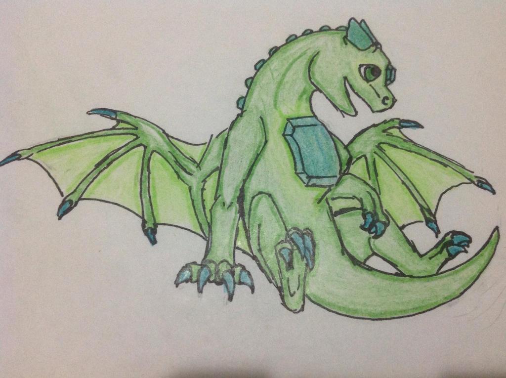 Emerald Dragon by RainbowGuppy1