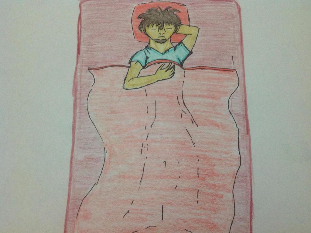 Sleeping Herobrine by RainbowGuppy1