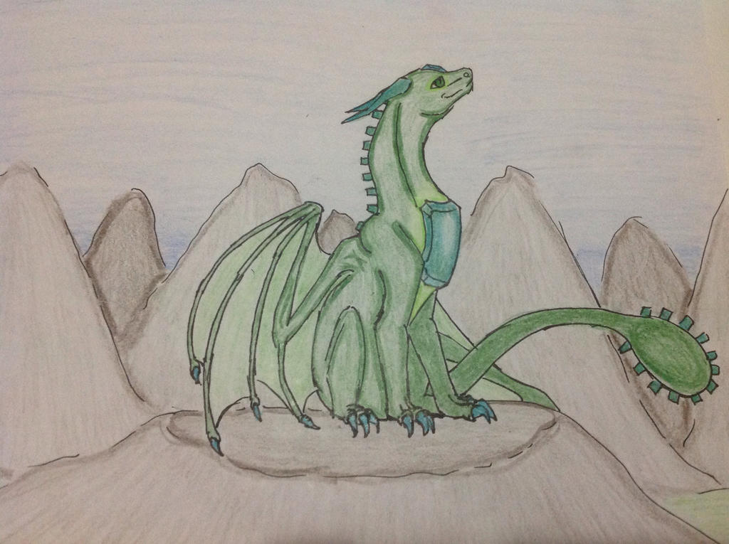 Leaf the Emerald Dragon by RainbowGuppy1