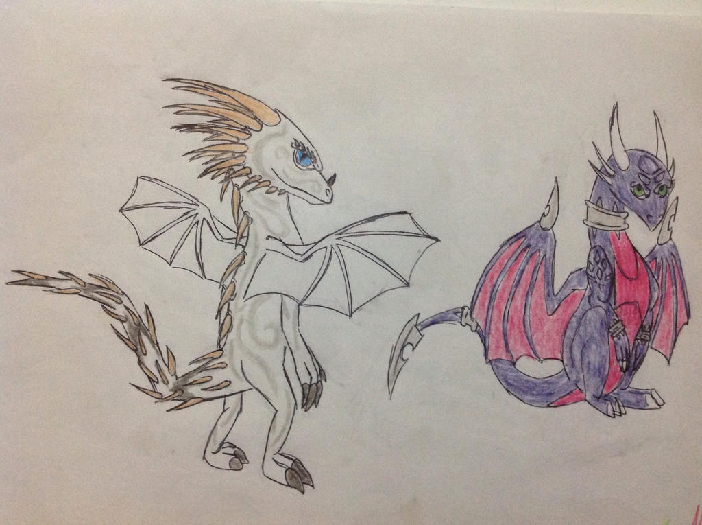 Silverwind and Cynder by RainbowGuppy1