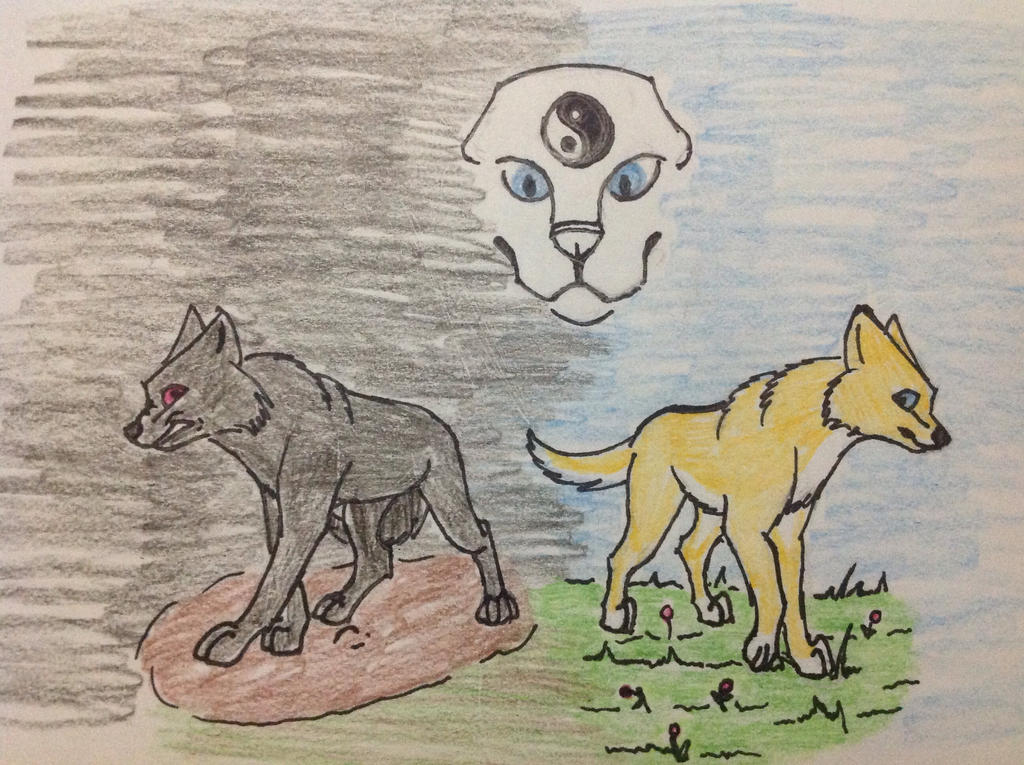 Harmony Wolves Front Cover by RainbowGuppy1