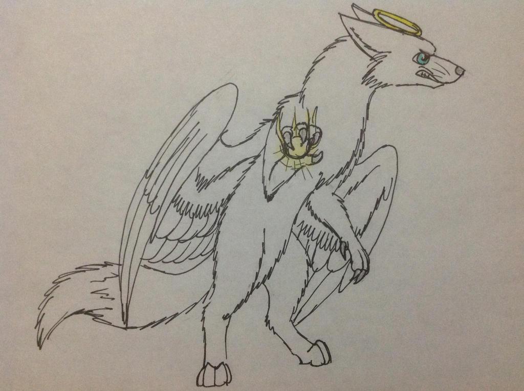 Jett the Angel Fox by RainbowGuppy1