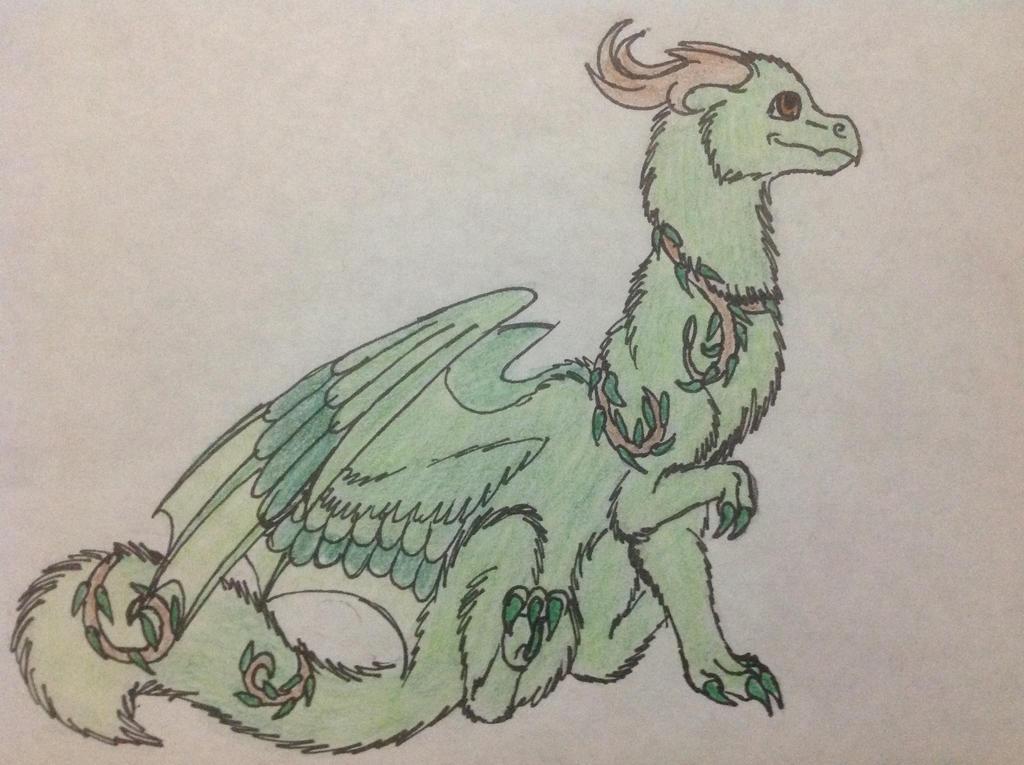 Fluffy Dwagon by RainbowGuppy1