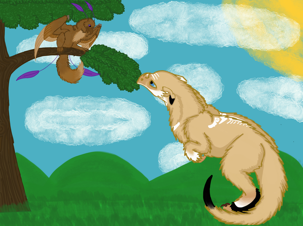Frightful Encounter by RainbowGuppy1