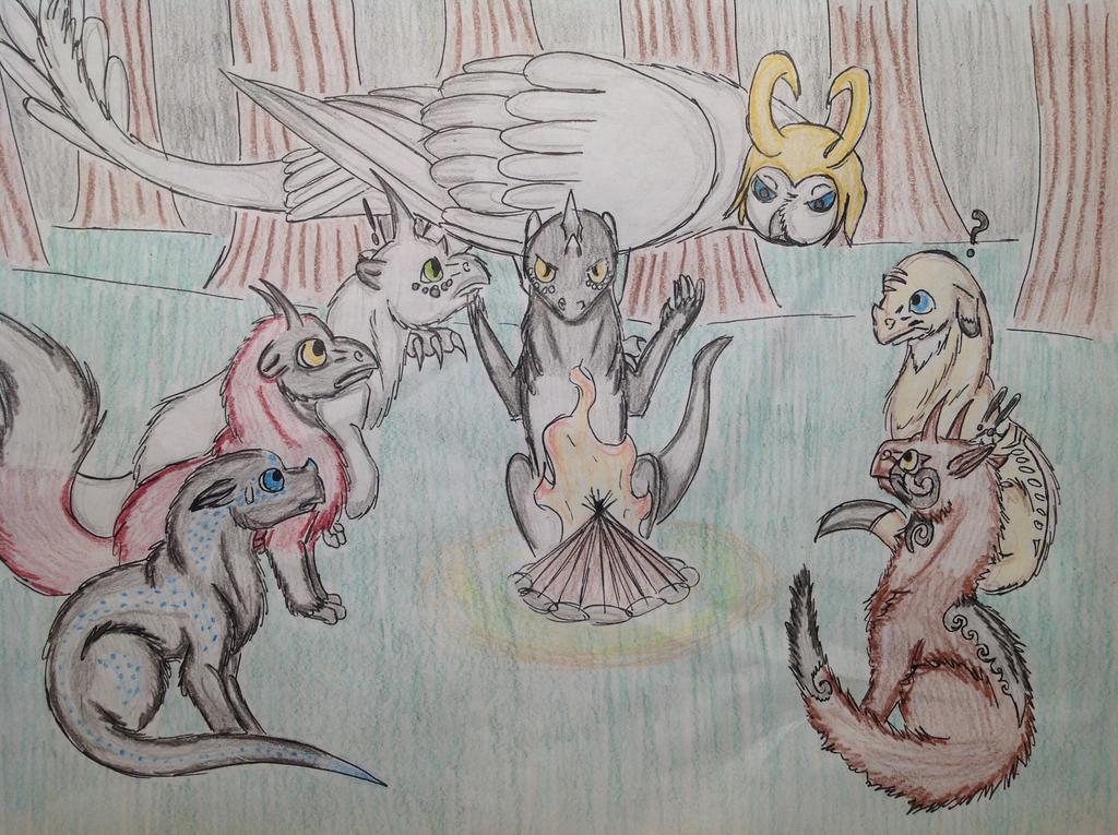 Campfire Story by RainbowGuppy1