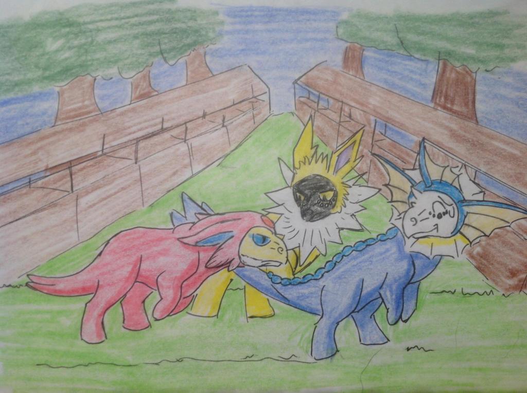 Eevee Group 2 by RainbowGuppy1