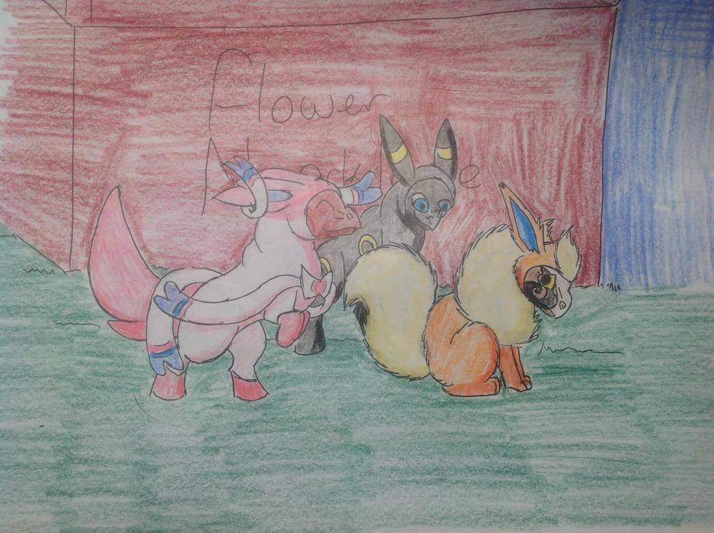 Eevee Group 1 by RainbowGuppy1