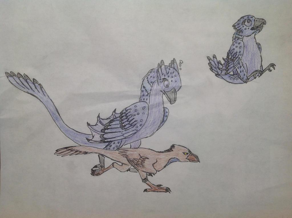 Running With A Raptor by RainbowGuppy1