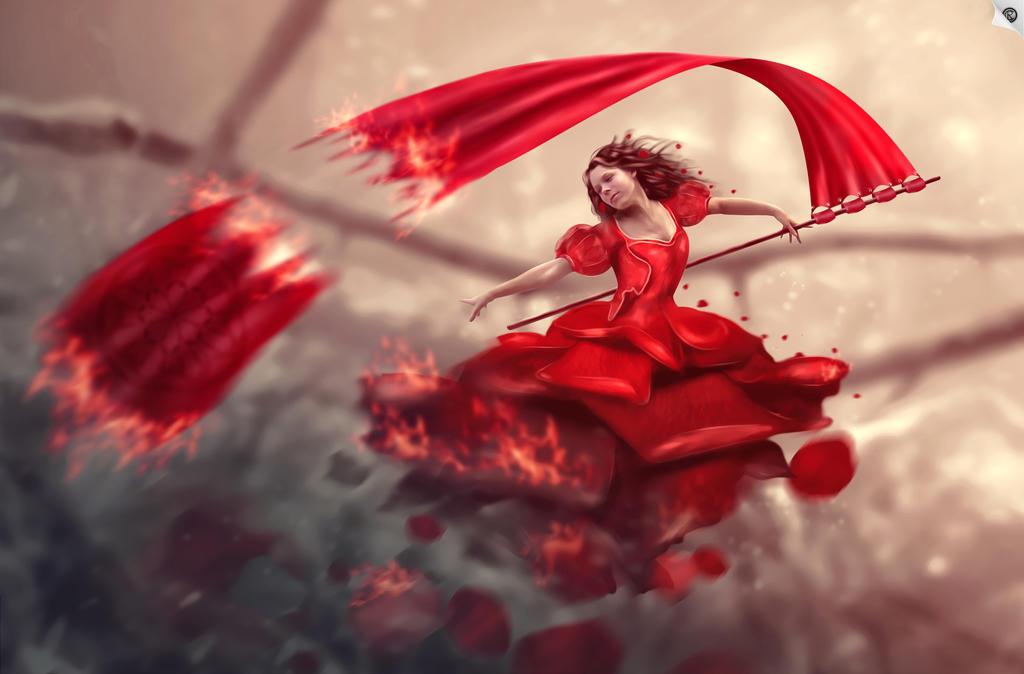 RedBlack rose by CRaght