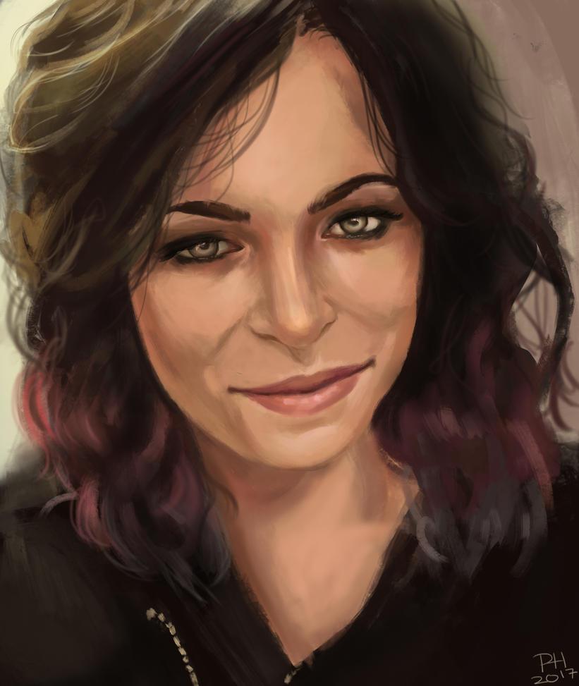 Portrait of a friend by PaigeAHanlon