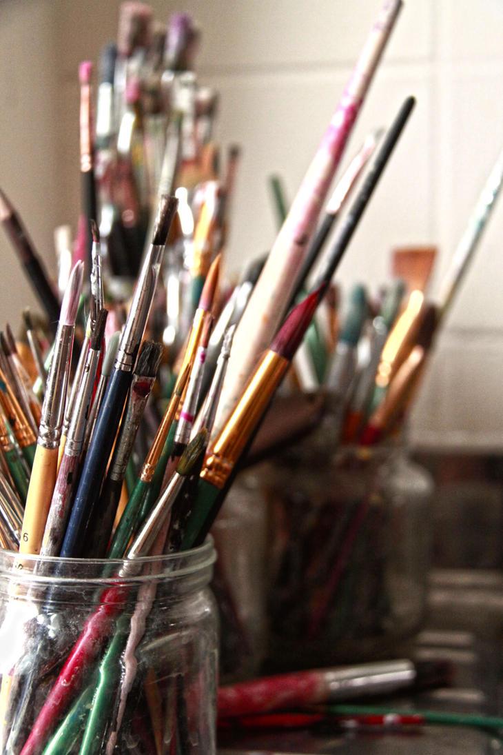 Paintbrushes by Tsunatta