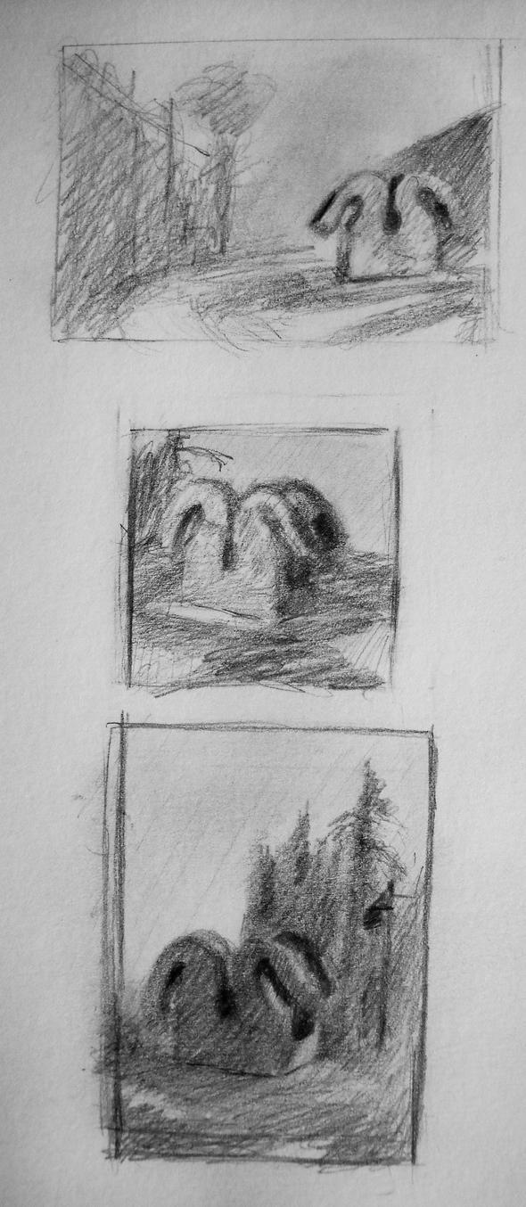 Tonal Sketches for Non-Beautiful Sculpture by KaterinARTadenev