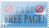 zadr Free Page Stamp by WarmedOldMuslin