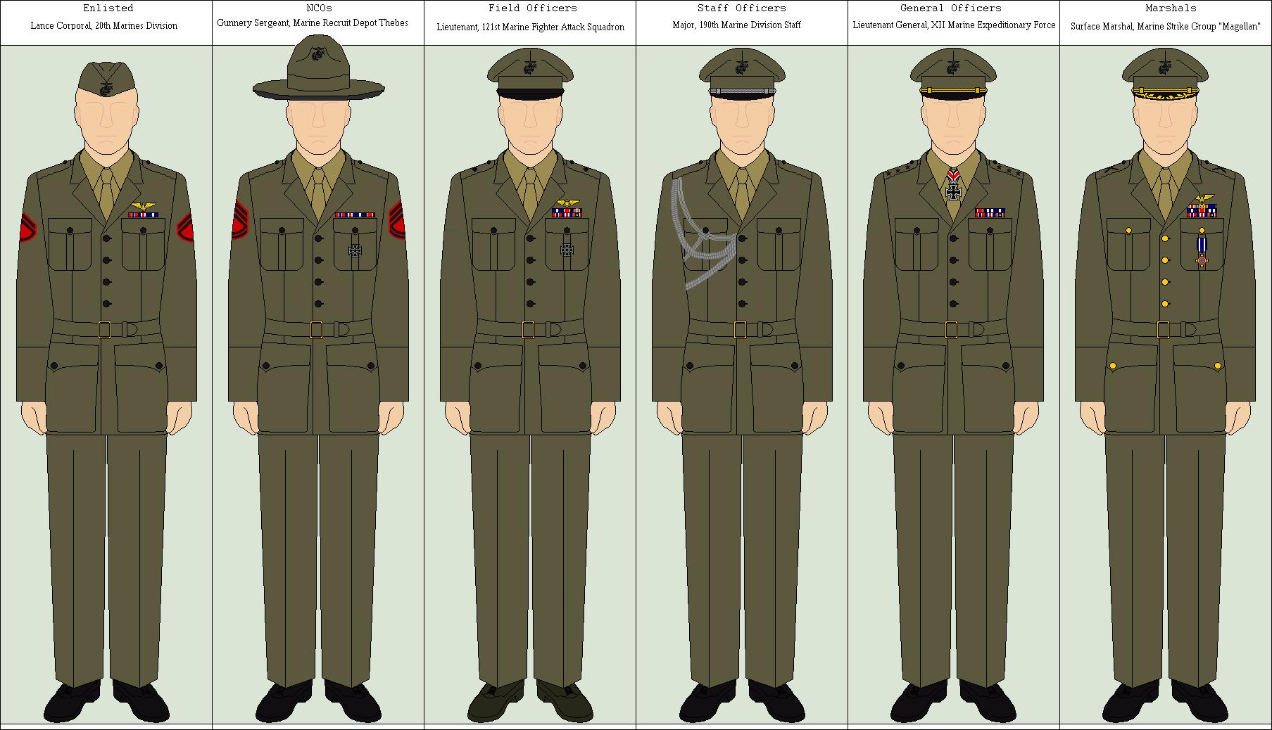 Usmc Service A Uniform 22