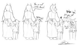 Asriel, Toriel et Frisk