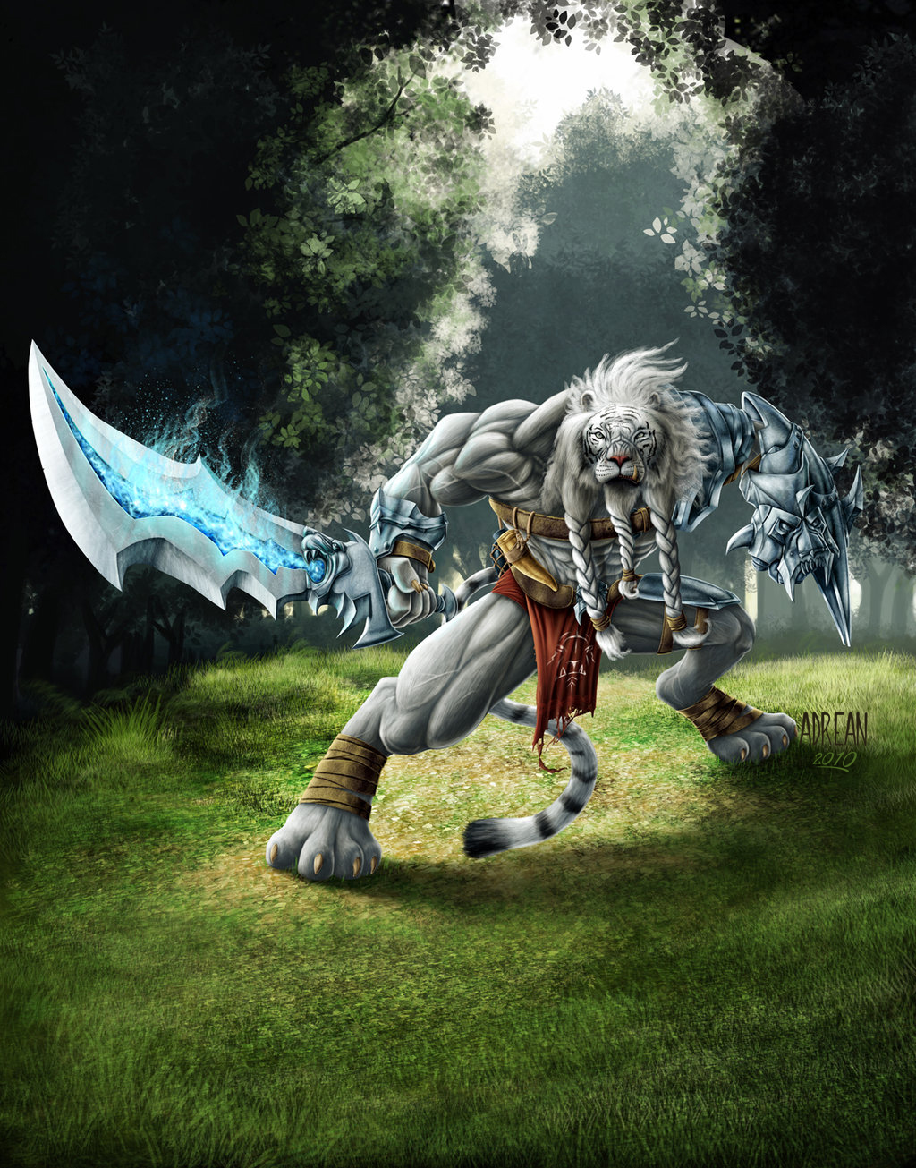 Azharel, Warrior Lion by Adrean-BC