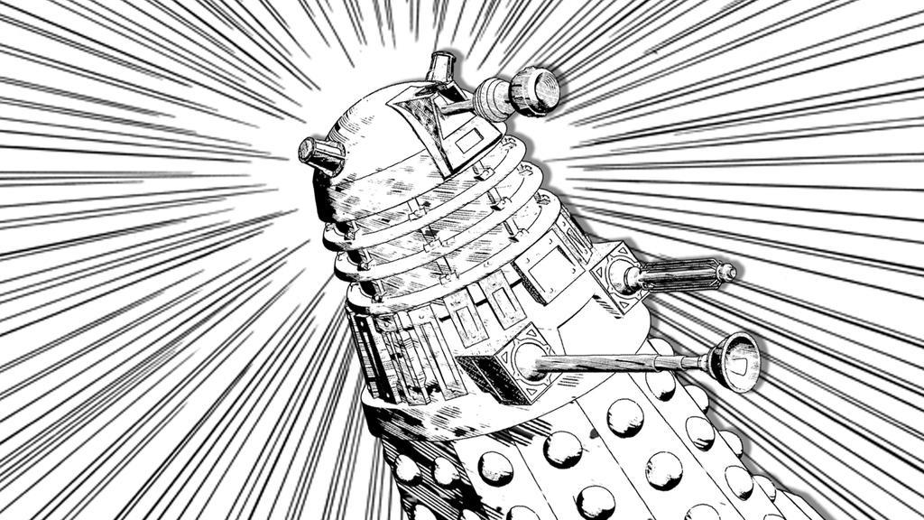 Manga Style 3D Dalek by MishraFathom