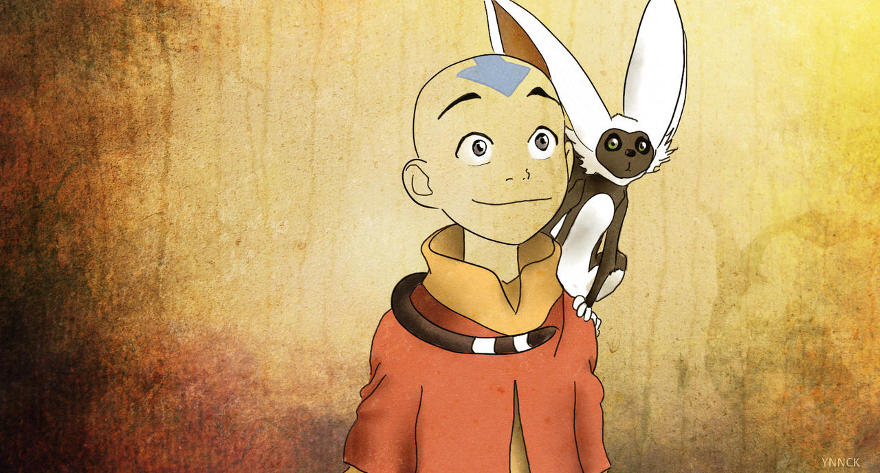 AANG AND MOMO by Ynnck