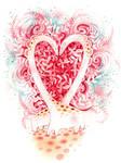 Love-y Giraffe Valentine by golden-quince