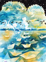 Paper Boats by golden-quince