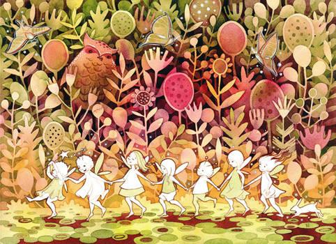 Fae Children in the Night Garden