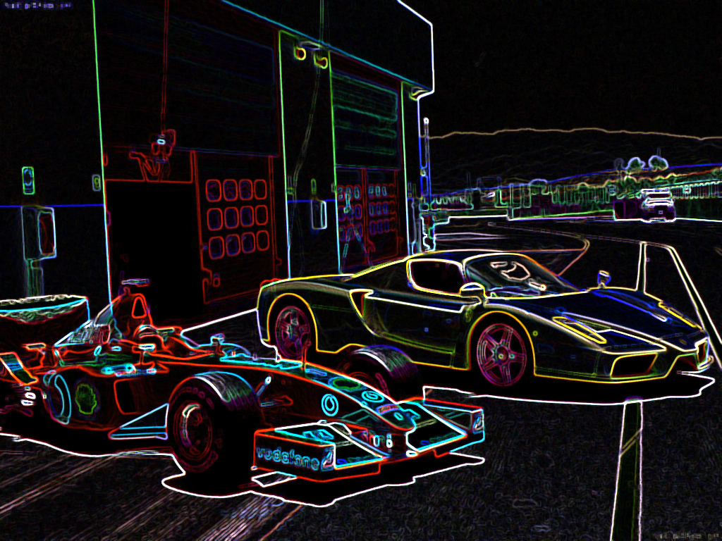 Ferrari Enzo Neon Line Drawing By Leafsoto On Deviantart