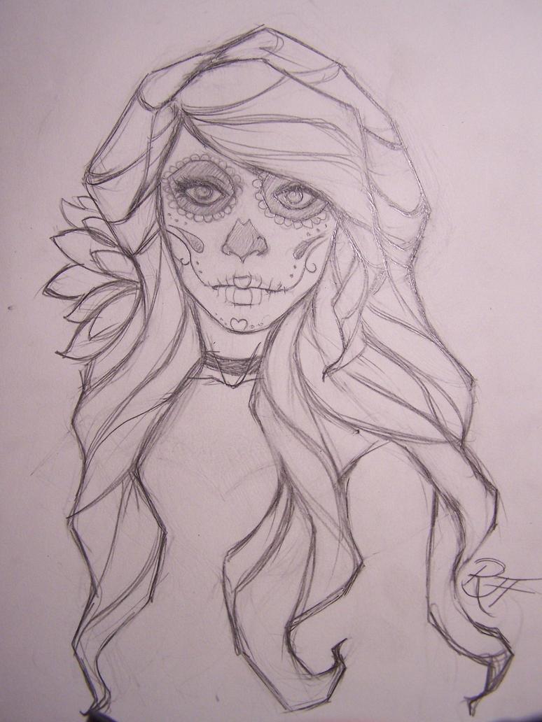 dia de los muertos girl by RavensWritingDesk