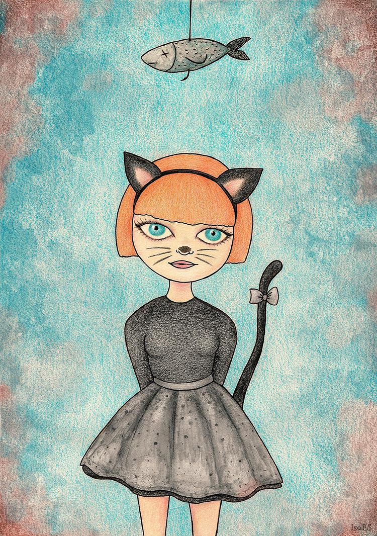 Cat girl by stardixa