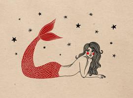 Sirena y estrellas