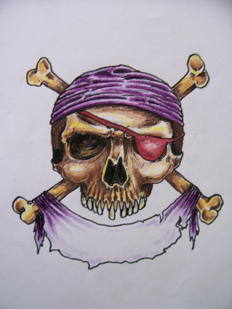 pirate skull by wolfy warploy on deviantart