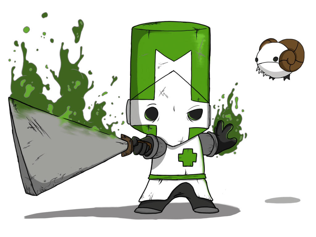 castle crashers green knight digital by crashdummy55