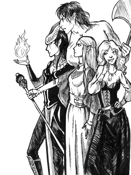 Dungeons and Dragons by tin-sulwen
