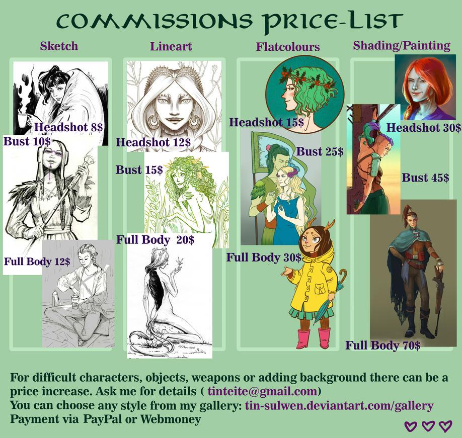 Price List by tin-sulwen