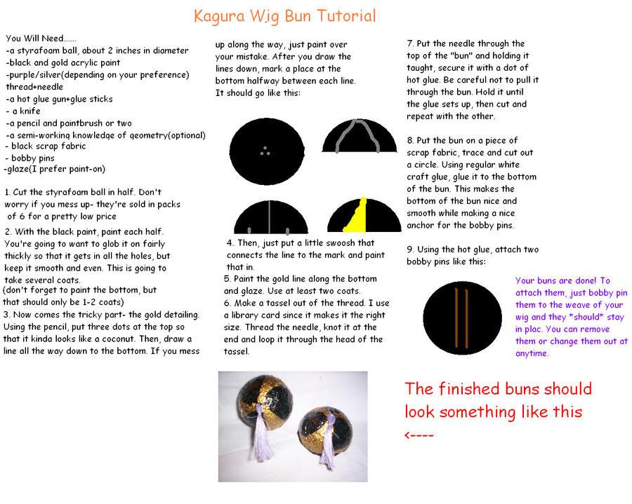 Kagura hair buns+tutorial