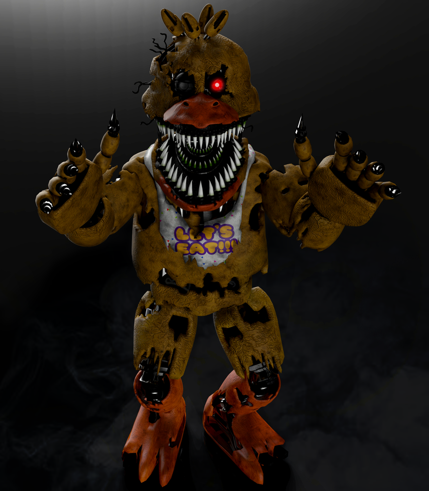Nightmare Chica FNAF4 by RealMoonlight
