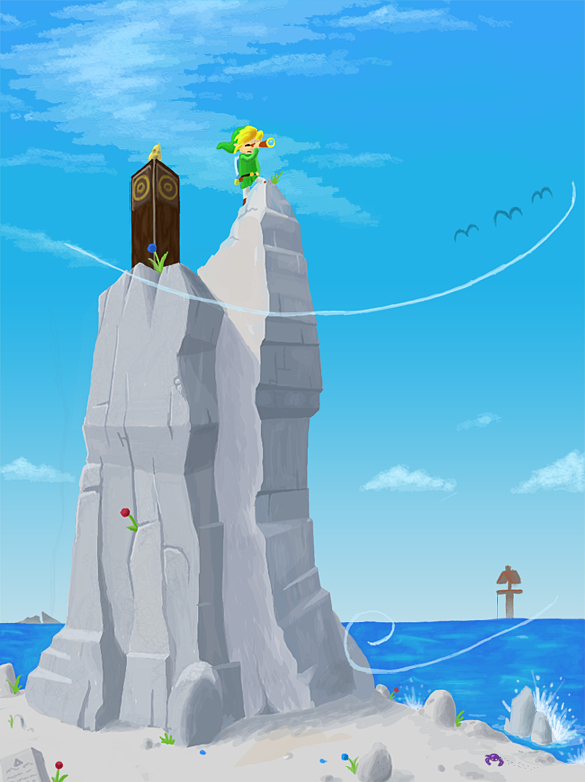 Wind Waker - Viewpoint Rock by Torqbow