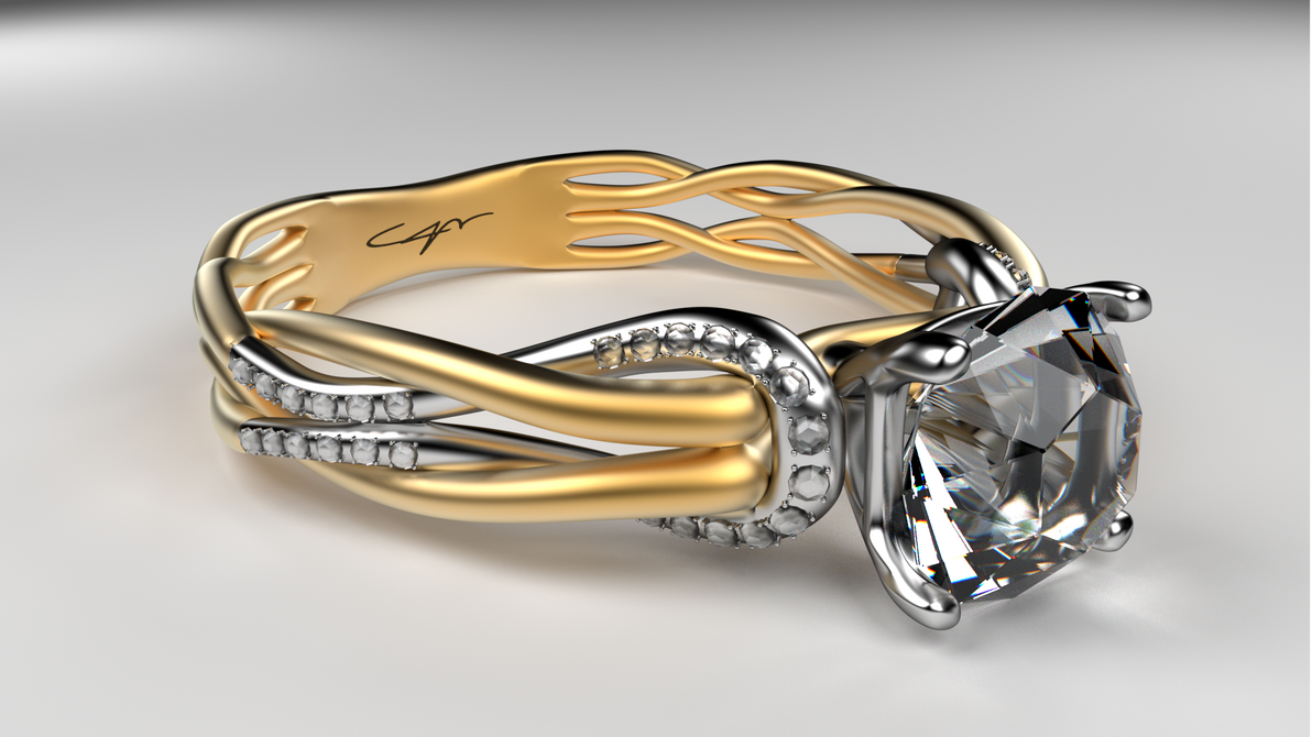 Gold Engagement Diamond Ring.. by casper033