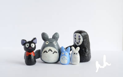 Happy Studio Ghibli Family