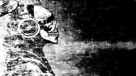 Skull-Grunge Wallpaper by Farathil