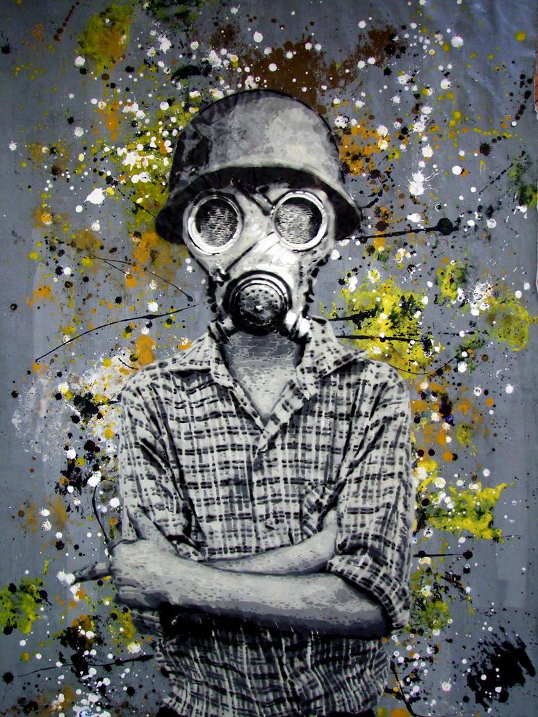 TOXIC ONE FINGER by destroytrash