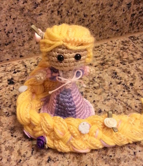 CROCHET PATTERN Rapunzel Doll // Storybook Crochet Pattern // Doll ... | 699x600
