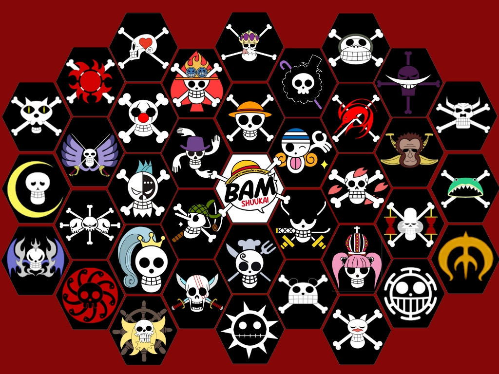 Jolly Roger OP by jamax on DeviantArt Official One Piece Jolly Rogers