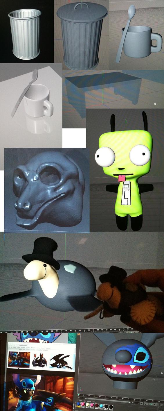 3d Animation Models by darklightartist
