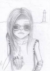 Sunglasses rough sketch