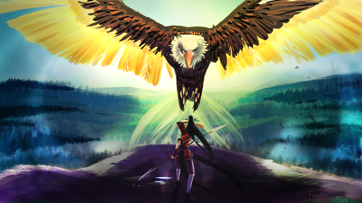 Encounter the eagle by TchaikoGret