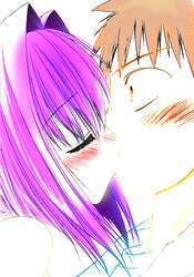 Karin Usui kiss by Chibusa223