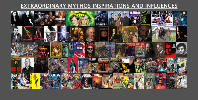 Extraordinary Mythos Inspirations.Influences Mural